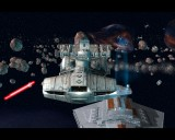 A Corellian Corvette uses its speed to evade fire