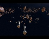 A Rebel fleet similar to the one in Return of the Jedi