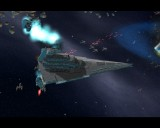 A Victory Star Destroyer under attack with help from Han Solo