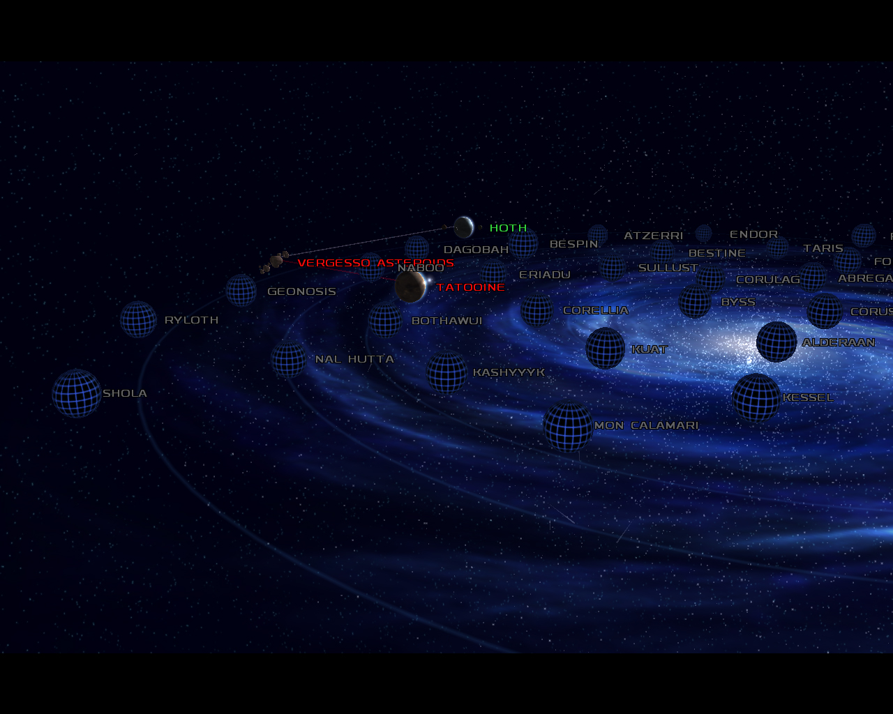 A portion of the Galactic Map